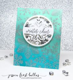 Hero Arts Winter 2016 Release Blog Hop card by Jessica Frost-Ballas                                                                                                                                                                                 More