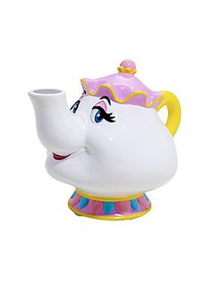 """<div>Helpful, thoughtful, orderly - all positive traits of Mrs. Potts, and reasons you should trust her with your savings. This ceramic coin bank from <i>Beauty And The Beast</i> is the perfect place to save your coins.</div><div><ul><li style=""""list-style-position: inside !important; list-style-type: disc !important"""">Ceramic</li><li style=""""list-style-position: inside !important; list-style-type: disc !important"""">Approx. 7"""" tall</li><li style=""""list-style-position: inside !important; lis..."""
