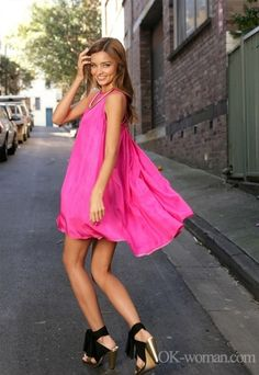 Flowy Hot Pink dress