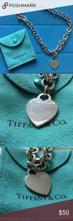 Tiffany & Co. chain heart tag necklace Tiffany & Co. chain heart necklace. Tiffany & Co. Jewelry Necklaces