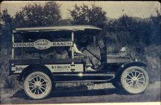 The Verdugo Ranch milkman truck, owned by W. P. Bullock of Glendale on its daily trip into Glendale to sell/deliver dairy products, 1916. Walter Pierce Bullock was married to Dora Verdugo Bullock, one of the Verdugo daughters. Glendale Central Public Library. San Fernando Valley History Digital Library.