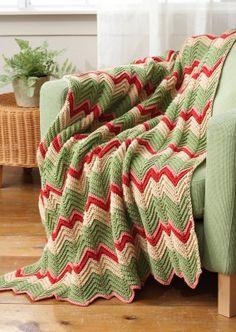 Free Zig-Zag Afghan Crochet Pattern *༺✿ƬⱤღ http://www.pinterest.com/teretegui/✿༻*