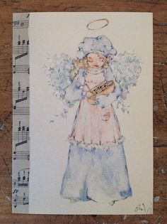 Angel print from my original watercolor, its 10x15 cm