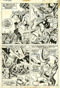 Here's a page from THOR #200 by John Buscema and John Verpoorten, featuring Loki.