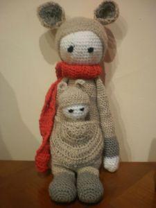 KIRA the kangaroo made by fredycrochet / crochet pattern by lalylala