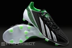 adidas Football Boots - adidas adizero F50 TRX FG LEA - Firm Ground - Soccer Cleats - Black-Running White-Green Zest