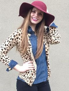 Leopard print cardigan for only $16.99?? I'm in. (On sale for only 2 more days!) #sale #leopard #cardigan