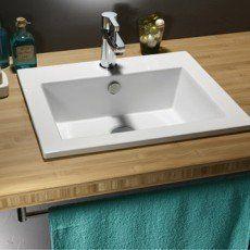 Vasque à encastrer céramique l.50 x P.43 cm blanc Keo