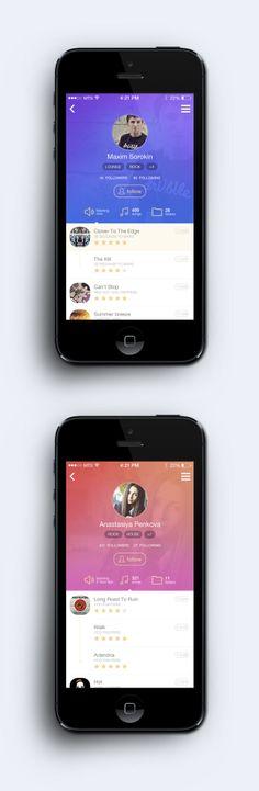 Music App Profil
