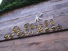 El Celler de Can Roca, Spain - sign
