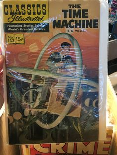 Mike and I went to the Trenton Punk Rock Flea Market on Saturday, 4/8/17. The Trenton Punk Rock Flea Market takes place three times per year at the historic Roebling Wire Works building in Trenton, New Jersey. Pictured: A copy of H.G. Wells classic The Time Machine comic.