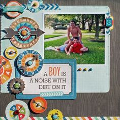 A Boy Is Layout from All About a Boy Collection. #echoparkpaper