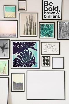 Black Wood Art Print Frame