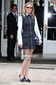 Fotografia de notícias : Olivia Palermo arrives at the Christian Dior...