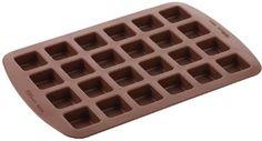 Wilton 2105-4923 Molde de silicón para brownies, 24 cavidades
