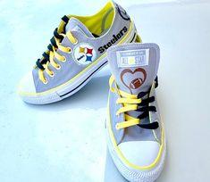 Steelers Custom Converse Shoes on Mercari Custom Converse Shoes, Converse Design, Cool Converse, Converse Tennis Shoes, Converse Star, White Converse, Custom Shoes, Pink Sneakers, Sneakers Fashion