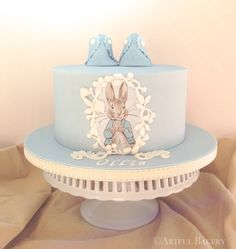Peter Rabbit Christening cake via Craftsy Peter Rabbit Cake, Peter Rabbit Birthday, Beatrix Potter Cake, Christening Cake Boy, Occasion Cakes, Savoury Cake, Baby Shower Cakes, Baby Cakes, Celebration Cakes
