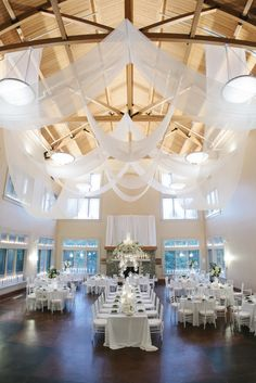 #Draping transforms this room!! Featured on SMP: http://www.StyleMePretty.com/north-carolina-weddings/2013/11/27/north-carolina-arboretum-wedding-from-bamber-photography/ Bamber Photography