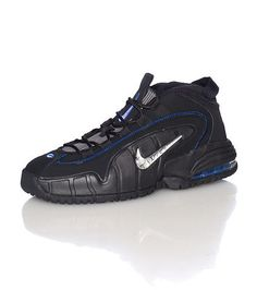 best service 92240 ebc7b NIKE Penny Hardaway Mid top men s sneaker Lace closure NIKE swoosh on side  with cement print Nubuck accents Classic air bubble heel Cushionedinner sole