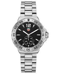 TAG Heuer Men's Swiss Formula 1 Stainless Steel Bracelet Watch 42mm WAU1112.BA0858 - Watches - Jewelry & Watches - Macy's
