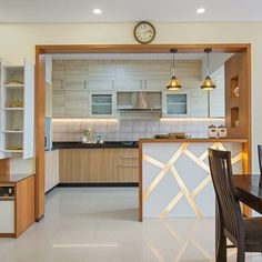 more reasons than you'd know. One of the obvious advantages of having an open kitchen design is, that it facilitates Kitchen Design Open, Kitchen Cabinet Design, Kitchen Cabinets, White Interior Design, Interior Design Kitchen, Modern Kitchen Interiors, Interior Modern, Home Decor Kitchen, Kitchen Furniture