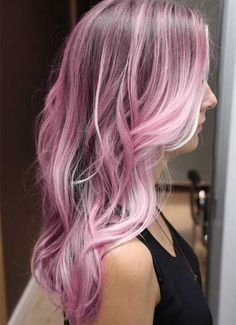 Cotton Pink ombre hair color for black hair, 2015 summer waves