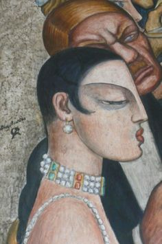 Banquet (detail), by Diego Rivera (Mexican, 1886-1957).                                                                                                                                                                                 More
