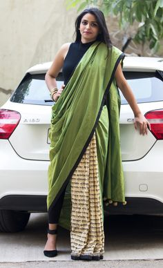 Wear it as you like - #Designer #Saree #Pant style