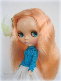 Hand knit doll sweater for Blythe pullover blythe от JujaShop