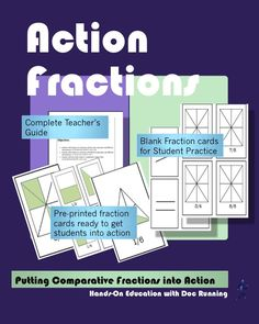 Students literally get into action comparing fractions through multiple activities.  This ready to use, common core aligned plan is great for whole class, small group, or individual study of comparing fractions.