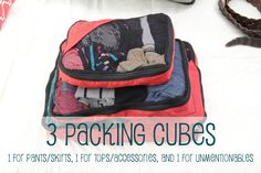 How to Pack 2 Weeks in a Carry-on. Like the cubes, but not sure what type of trip this person is packing for....