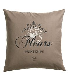 "French Vintage Accent Decorative 100% Cotton Canvas Throw Pillow Cover Cushion 20 X 20"" (Taupe) Cushion Cover http://www.amazon.com/dp/B010MF0OOY/ref=cm_sw_r_pi_dp_nnVLvb0E2D861"