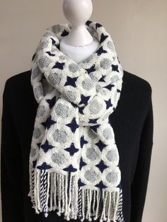 Double Deflected Weave in merino yarn on 8 shaft Louet Spring loom