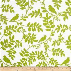 Dwell Studio Botany Flora Twill Leaf