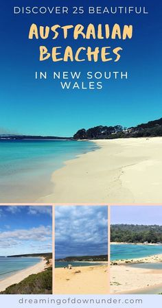 Discover 25 of the most beautiful beaches in NSW to add to your Australia bucketlist. From Byron Bay down to Eden, the New South Wales coastline is packed with hidden coves and big city beaches. Plan your Australia travel with this guide to the best beaches in NSW, Australia, including Sydney, Newcastle, Jervis Bay and Coffs Harbour. #australia #beaches #travel Australia Beach, Coast Australia, Cities In Wales, Australian Photography, Australia Travel Guide, Sydney City, Most Beautiful Beaches, Beautiful World, Australia