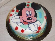 I miei hobby: Per un 'amichetto di Leonardo torta Topolino.