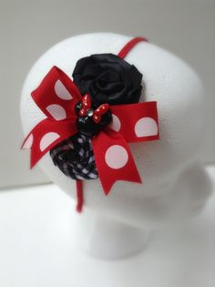 Minnie Mouse Headband Red Minnie Mouse by ButterflyFaithBoutiq, $13.95