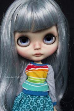 Marina RBL Blythe factory custom OOAK Mint mix by OneSweetyDoll