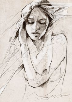 """Image of """"Figure Sketch"""" OPEN EDT PRINT on 315gsm 100% Cotton Rag Paper   Danny O'Connor"""