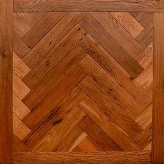 Rift & Quartered White Oak Herringbone with Border | Olde Savannah Flooring