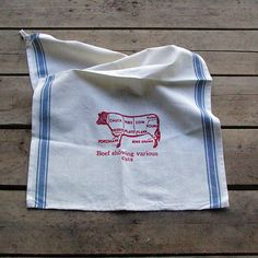 Image of Butcher Chart Dishtowel-Beef: these would make great gifts.