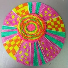 Art With Mr. E: COMPLETED CIRCLE WEAVINGS 2013: 3rd Grade