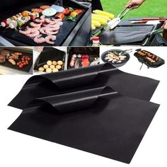 Reusable Non-stick BBQ Grill Mat Barbecue Baking Cooking Meat Pad Sheet Barbecue Grill, Grilling, Life Hacks Diy, Cook Pad, Clean Grill, Fish And Meat, Easy Cookie Recipes, Life Hacks, Bbq Grill