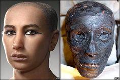Reconstruction numérique du roi Toutankhamon Living visage révélé au monde.
