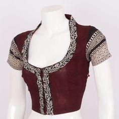 Svasa Hand Block Printed Kalamkari Cotton Blouse 10008872 - Size 36 - AVISHYA.COM