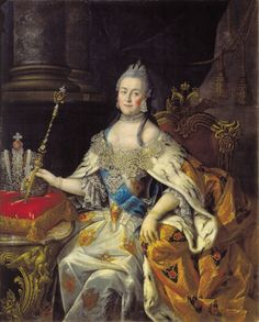 Catherine the Great.  Her famous ruby is shown at the top of the Imperial Crown.  (Actually it's a spinel).