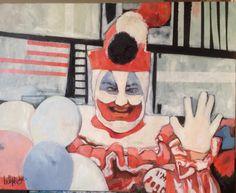 Pogo The Clown - Huile sur toile 81x65 - 2014