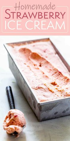 Do you love strawberry ice cream? Like, REALLY love strawberry ice cream? Then this is the recipe for you. Fresh strawberries and velvety texture, this is the ultimate summer treat. #icecream #strawberry #strawberryicecream #simplyrecipes
