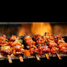 1. Yakitori 「焼き鳥」 Skewered chicken pieces that are grilled over hot charcoals.