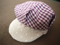 とっても簡単キャスケット!の作り方|帽子|ファッション小物|ハンドメイド | アトリエ
